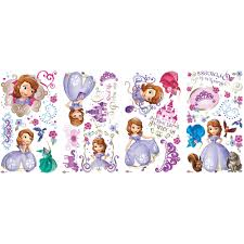 Sofia The First Bedroom Accessories Sofia The First Peel And Stick Wall Decals Walmartcom