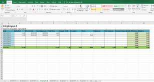 Excel Employee Time Sheet Monthly And Weekly Timesheets Free Excel Timesheet
