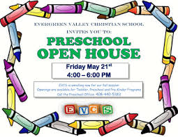 Flyerviewer Evergreen Valley Christian School Invites You To