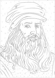 Disegno Di Leonardo Da Vinci Da Colorare Disegni Da Colorare E