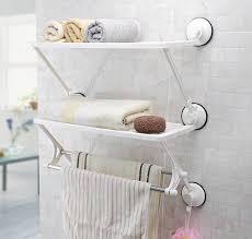 wall mounted bathroom double layer towel bar