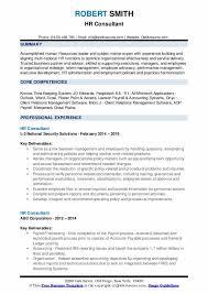 Sample Hr Professional Consultant Resume Hr Consultant Resume Samples Qwikresume