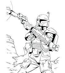 Boba Fett Coloring Pages Star Wars Coloring Pages Page Bounty Hunter