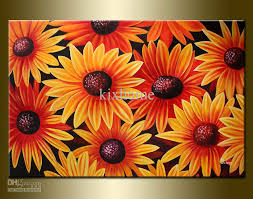 2018 oil painting abstract flower large size sea of daisy high quality 100 handmade from kixhome 98 5 dhgate com