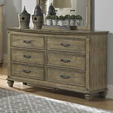 Oak Veneer Bedroom Furniture Homelegance Sylvania 6 Drawer Dresser W Mirror In Oak Veneered