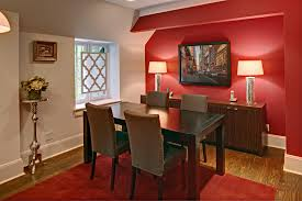 In the interior people preferred to use different shades of red in pillow, throw and rugs. 20 Fab Red Accent Walls In Dining Rooms Home Design Lover