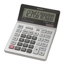 Sharp Calculators Shrvx2128v Vx 2128v 12 Digit Commercial Desktop Calculator 1 Each Silver Black