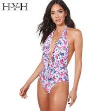 <b>HYH HAOYIHUI</b> Flower Print Beachwear Halter Women Jumpsuits ...