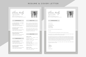 Olivia Resume Cover Letter Resume Templates Creative Market