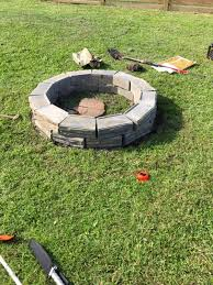 diy retaining wall block fire pit diy
