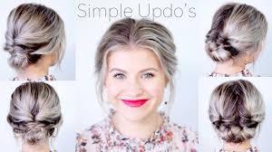 Simple Elegant Updo Hairstyles For Medium Length Hair Milabu Youtube
