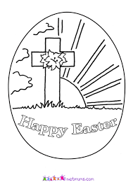 Easter Sunrise Printable Coloring Page
