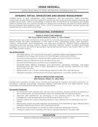 Store Manager Resume Retail Management Resume Objective Business