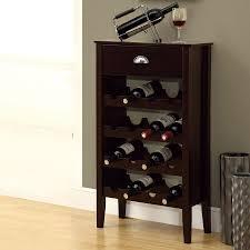 Monarch Specialties 16-Bottle Cappuccino Freestanding Floor Wine Rack