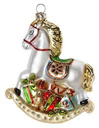 Inge Glas Christbaumschmuck Weihnachtskugeln Figuren Schaukelpferd 11cm