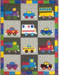Small Picture Wheels Kids Quilt Pattern by Garden Trellis Designs at KayeWoodcom