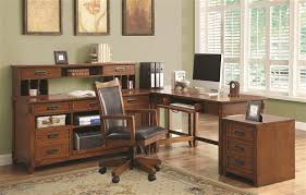 home office set. maclay 4 piece lshaped desk home office set in red brown finish by coaster 801201s o