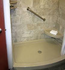 curved shower base bathroom remodel
