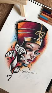 Nefertiti Tattoo Art By Faisal Al Lami At Tattoosal Tattoos