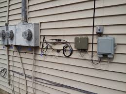 how to install a dsl line electrical cable and dsl and voice telco service entrances are on the rear wall