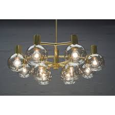 large smoked glass and brass chandelier 1960s vintage designer furniture previous