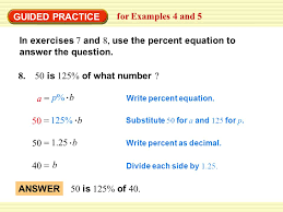 find a base using the percent equation for examples 4 and 5