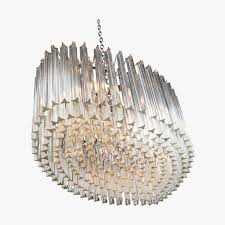 oval drum chandelier