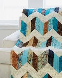 Best 25+ Chevron quilt pattern ideas on Pinterest | Chevron quilt ... & Sand and Sea quilt pattern: Dig into your pre-cut strips to make a Adamdwight.com