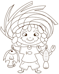 Small Picture Cartoon Fisherman coloring page Free Printable Coloring Pages