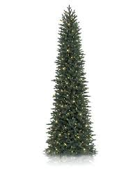 Puleo International Green 75foot Artificial Christmas Tree With Kingswood Fir Pencil Christmas Tree
