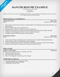 Dancer Resume Template. Musical Theatre Resume Examples Musical ...