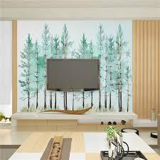 Simple Bedroom With Tv Modern simple bedroom living room wallpaper