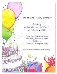 Design Your Own Birthday Party Invitations Birthday Party Invitations Online Combined With Colorful Balloons