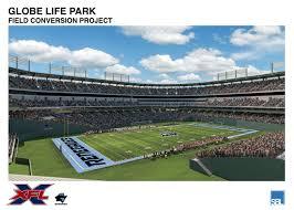 Globe Life Park Transformation From Baseball To Football