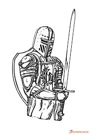 Knights Coloring Pictures Download And Print
