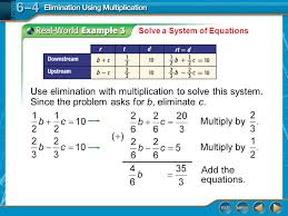 21 solve a system of equations use elimination with multiplication