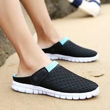 Men's Mesh Breathable <b>Sandals Casual Couple Sandals</b> | Shopee ...