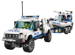 LEGO CITY Police Patrol w/ Two Floating Dinghys, Truck and Trailer ...
