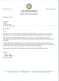 Sconfire Com Receives Thank You Letter From The Myrtle Beach Fire