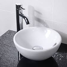 Countertop Sink Bathroom Basin Bowl White Ceramic Amazon Co Uk