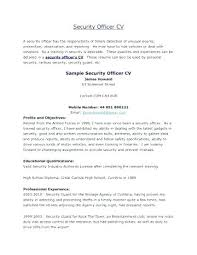 security guard resume objective security guard resume objective armored car guard cover letter