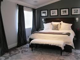 dark grey bedroom with designer flooring