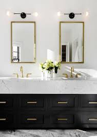 black bathroom lighting fixtures. bathroom in a scarsdale ny home double sinks mirrors black drawers lighting fixtures