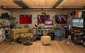 desktop computer living room. 3d messy living room imac computer wallpaper - hd background desktop