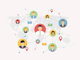 Social Network Flat Concept By Holypix Dribbble Dribbble