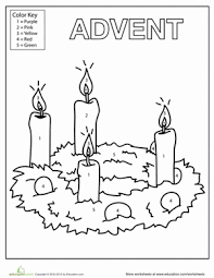 Advent Candles Coloring Page Worksheet Educationcom