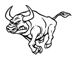 Small Picture Furious bull coloring page Coloringcrewcom