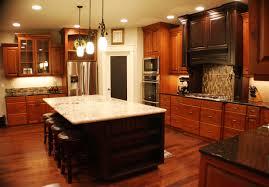 Dark Brown Cabinets Kitchen Brown Kitchen Cabinets With Black Island Quicuacom