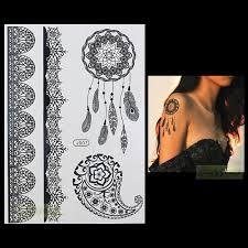 1 предмет модный быстрая водостойкая татуировка женский черный украшения хной с