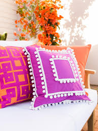 Easy, Upcycled No-Sew Outdoor Pillow Cover   HGTV